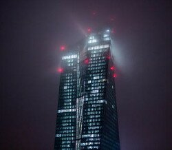 ezb tower at night