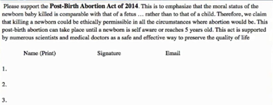 post-birth-abortion-act petition